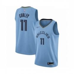 Grizzlies 11 Mike Conley Light Blue Basketball Swingman Statement Edition Jersey