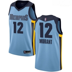 Grizzlies 12 Ja Morant Light Blue Basketball Swingman Statement Edition Jersey