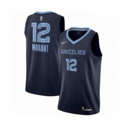 Grizzlies 12 Ja Morant Navy Blue Basketball Swingman Icon Edition Jersey
