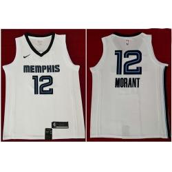 Grizzlies 12 Ja Morant White Nike Swingman Jersey 2