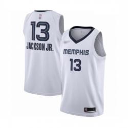 Grizzlies 13 Jaren Jackson Jr  White Basketball Swingman Association Edition Jersey