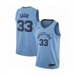 Grizzlies 33 Marc Gasol Light Blue Basketball Swingman Statement Edition Jersey