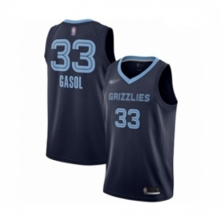 Grizzlies 33 Marc Gasol Navy Blue Basketball Swingman Icon Edition Jersey
