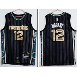 Men Memphis Grizzlies 12 Ja Morant 2020 2021 City Edition Stitched NBA Jersey