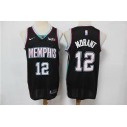 Men Menphis Grizzlies Ja Morant 2021 Black Game Swingman Nike Jersey
