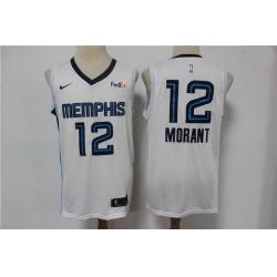 Men Menphis Grizzlies Ja Morant 2021 White Game Swingman Nike Jersey