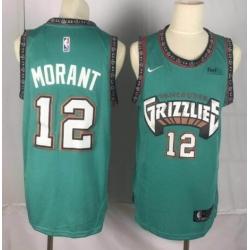 Men NBA Grizzlies  Ja Morant Grenn Jersey