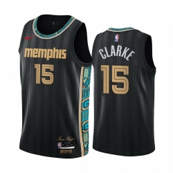 Men Nike Memphis Grizzlies 15 Brandon Clarke Black NBA Swingman 2020 21 City Edition Jersey