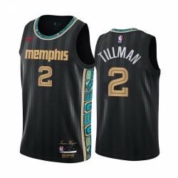 Men Nike Memphis Grizzlies 2 Xavier Tillman Black NBA Swingman 2020 21 City Edition Jersey