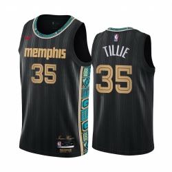 Men Nike Memphis Grizzlies 35 Killian Tillie Black NBA Swingman 2020 21 City Edition Jersey