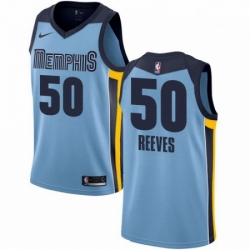 Mens Nike Memphis Grizzlies 50 Bryant Reeves Authentic Light Blue NBA Jersey Statement Edition