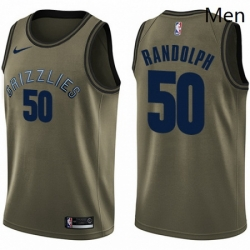 Mens Nike Memphis Grizzlies 50 Zach Randolph Swingman Green Salute to Service NBA Jersey
