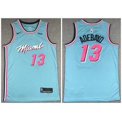 Heat 13 Bam Adebayo Light Blue Nike City Edition Swingman Jersey