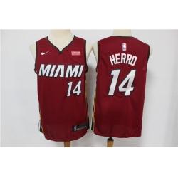 Heat 14 Tyler Herro Red Nike Swingman Jersey