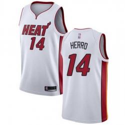 Heat  14 Tyler Herro White Basketball Swingman Association Edition Jersey