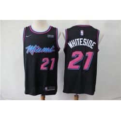 Heat 21 Hassan Whiteside Black City Edition Nike Swingman Jersey