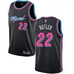 Heat #22 Jimmy Butler Black Basketball Swingman City Edition 2018 19 Jersey
