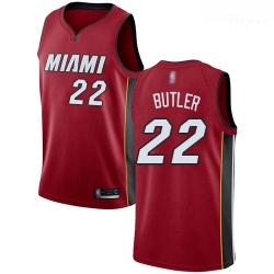 Heat #22 Jimmy Butler Red Basketball Swingman Statement Edition Jersey