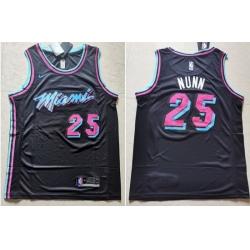 Heat 25 Kendrick Nunn Black Nike Swingman Jersey