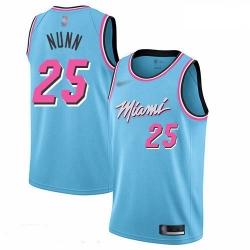 Heat 25 Kendrick Nunn Blue Basketball Swingman City Edition 2019 20 Jersey