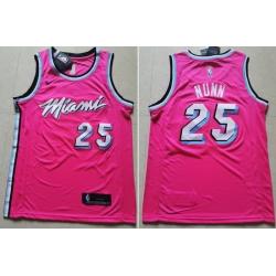 Heat 25 Kendrick Nunn Pink Nike Swingman Jersey