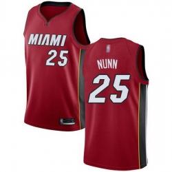 Heat  25 Kendrick Nunn Red Basketball Swingman Statement Edition Jersey