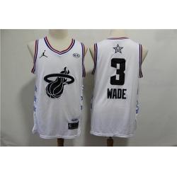 Heat 3 Dwyane Wade White 2019 NBA All Star Game Jordan Brand Swingman Jersey