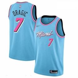 Heat 7 Goran Dragic Blue Basketball Swingman City Edition 2019 20 Jersey