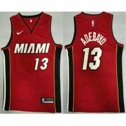 Men Miami Heat 13 Bam Adebayo Red 2020 Nike Swingman Stitched NBA Jersey