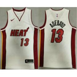 Men Miami Heat 13 Bam Adebayo White 2020 Nike Swingman Stitched NBA Jersey
