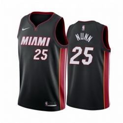 Men Miami Heat 25 Kendrick Nunn Red Statement Black Jersey