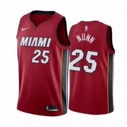 Men Miami Heat 25 Kendrick Nunn Red Statement Red Jersey