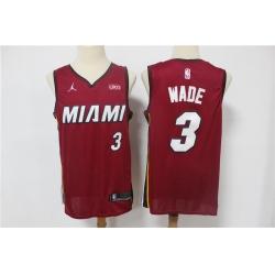 Men Miami Heat Dwyane Wade 30 Red 2021 Jordan Brand Swingman Jersey