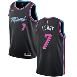 Men Nike Miami Heat 7 Kyle Lowry Black NBA Swingman City Edition 2018 19 Jersey