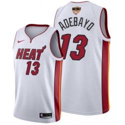 Men's Miami Heat #13 Bam Adebayo 2020 White Finals Bound Association Edition Stitched NBA Jersey