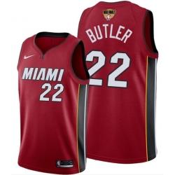 Men's Miami Heat #22 Jimmy Butler Red 2020 Finals Bound Association Edition Stitched NBA Jersey