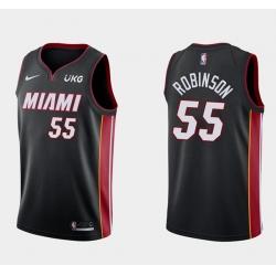 Men's Miami Heat #55 Duncan Robinson Black Stitched NBA Jersey