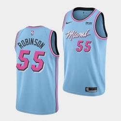 Men's Miami Heat #55 Duncan Robinson Blue Stitched NBA Jersey