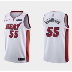 Men's Miami Heat #55 Duncan Robinson White Stitched NBA Jersey