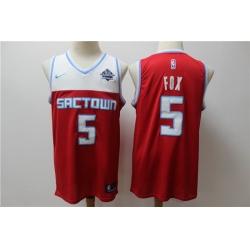 Kings 5 De Aaron Fox Red 2019 20 City Edition Nike Swingman Jersey