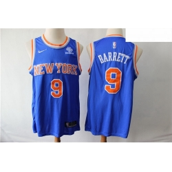 Knicks 9 R J  Barrett Royal Nike Swingman Jersey