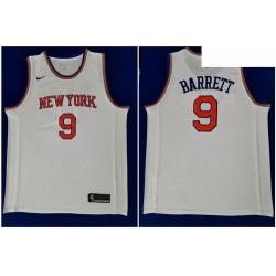 Knicks 9 R J  Barrett White 2019 NBA Draft First Round Pick Nike Swingman Jersey