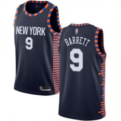 Knicks  9 R.J. Barrett Navy Basketball Swingman City Edition 2019 20 Jersey