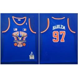 Knicks 97 Knicks Harlem Royal Hardwood Classics Mesh Swingman Jersey