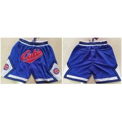 Men Chicago Cubs Team Logo Royal Just Don Pocket Baseball Shorts