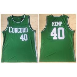 Men Concord Academy 40 Shawn Kemp Green High School Basketball Jersey