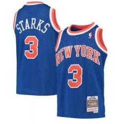 Men New York Knicks 3 Starks M&N Jersey