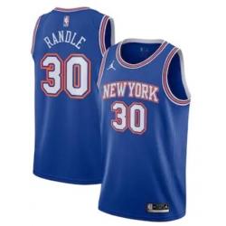 Men New York Knicks Jordan Statement Swingman Jersey Julius Randle Blue