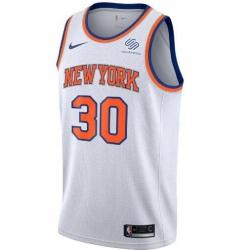 Men New York Knicks Jordan Statement Swingman Jersey Julius Randle White