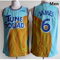 Men Tune Squad Lebron James 6 Space Jam Basketball Jersey